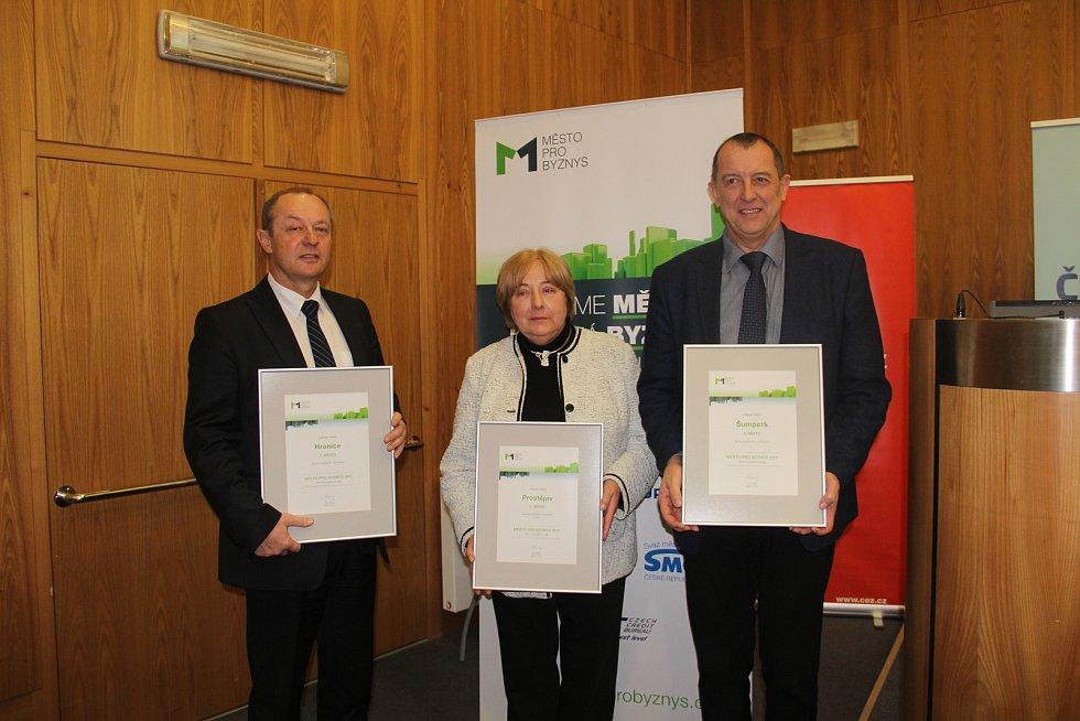 Město pro byznys - vyhlášení výsledků za Olomoucký kraj, nejlépe je na tom Prostějov
