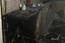 Požár kuchyně. Ilustrační foto.