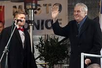 Návštěva prezidenta Zemana v Konici