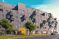 Vizulizace projektu Byty Šantova - na místě bývalých Sochorových kasáren v Olomouci se chystá na 300 bytových jednotek