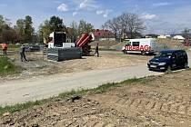Zahájení stavby plaveckého bazénu ve Šternberku, 4. května 2021
