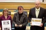 Předávávání cen Zlatý erb: 1. místo mezi obcemi: Náměšť na Hané