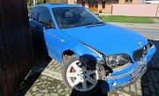 Havárie opilého řidiče BMW v Šumvaldu