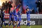 Fotbalisté Sigmy děkují fanouškům
