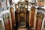 Práce v olomouckém kostele sv. Michala, konec ledna 2020