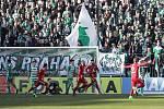 Zápas fotbalové Fortuna ligy mezi  Bohemians Praha 1905 - SK Sigma Olomouc v Ďolíčku