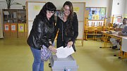 Volby na ZŠ Za Mlýnem v Přerově.