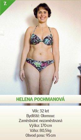 7 / Helena Pochmanová - Věk: 32let - Bydliště: Olomouc - Zaměstnání: nezaměstnaná - Výška: 170cm - Váha: 80,5kg - Obvod pasu: 95cm