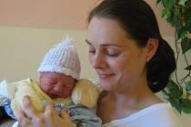 Martin Vlček, Olomouc, narozen 6. září v Olomouci, míra 49 cm, váha 2810 g