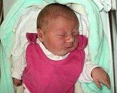 Alexandra Očenášková, Litovel, narozena 16. dubna ve Šternberku, míra 51 cm, váha 3390 g