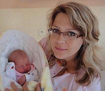 Sofie Nevrlá, Kutná Hora, narozena 28. května v Olomouci, míra 51 cm, váha 3130 g.