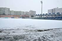 Fotbalový stadion v Mladé Boleslavi 29. ledna 2021