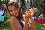 Miss OK 2018 Nelly Urbánková na koupacím biotopu v Litovli.