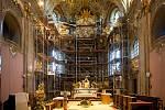 Rekonstrukce baziliky Navštívení Panny Marie na Svatém Kopečku u Olomouce. Prosinec 2019