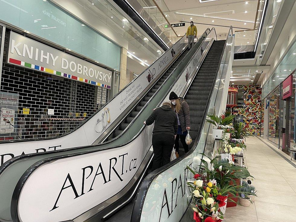 Obchodní centrum Galerie Šantovka v Olomouci, 21. února 2021