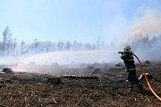 Požáry lesního a travního porostu zaměstnávaly hasiče v Olomouckém kraji
