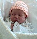 Eliška Peterová, Šternberk, narozena 3. dubna ve Šternberku, míra 49 cm, váha 3000 g