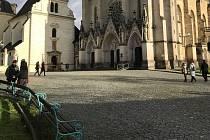 Prostranství před olomouckou katedrálou sv. Václava