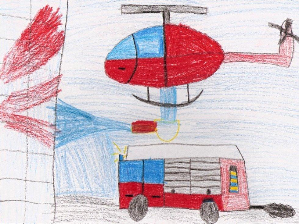 Martin Slivka, 9 let, chce být hasičem