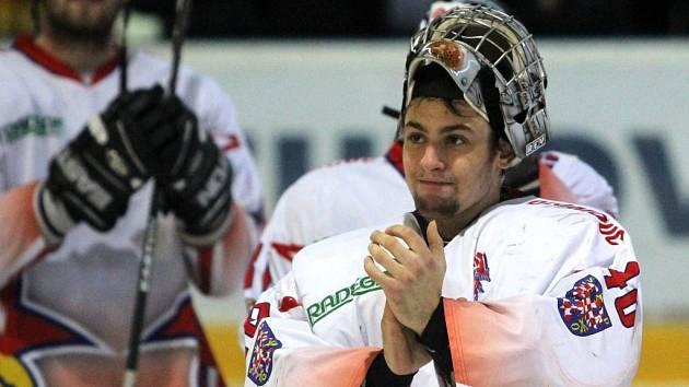 Brankář HC Olomouc Jan Lukáš