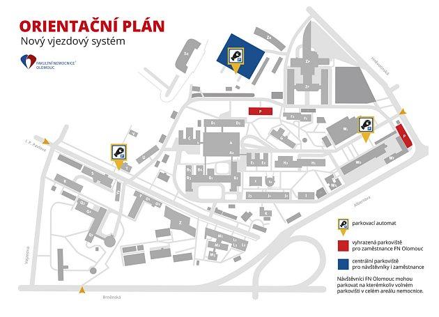 Nový plán parkování ve FNOL