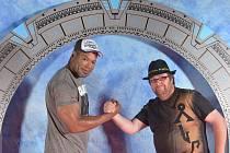 David Křížan a Christopher Judge alias Teal'c z Hvězdné brány