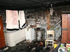 Požár sklepních prostor v Litovli