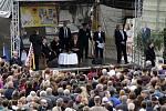 Návštěva prezidenta Zemana v Uničově