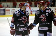 Hostující hráč HC Olomouc v Třinci - Roman Vlach č. 17