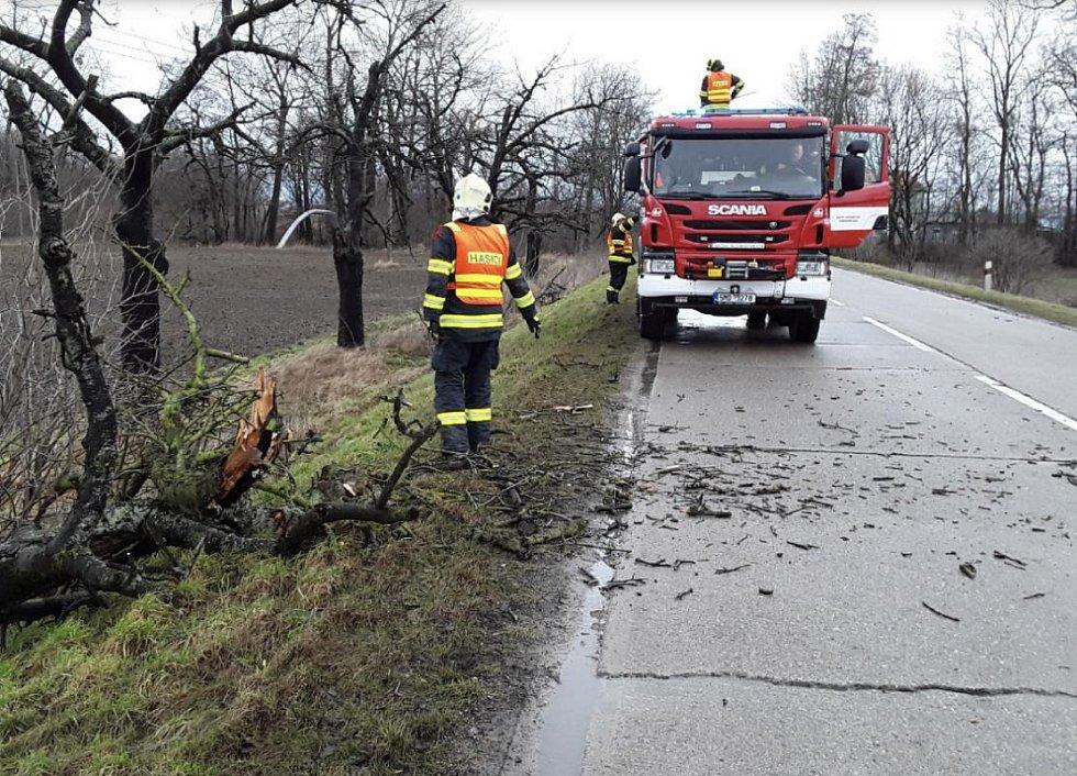 Následky silného větru v Olomouckém kraji, 4.2. 2020