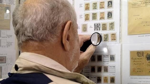 Výstava známek. Ilustrační foto.