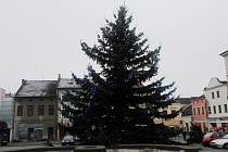 Vánoční strom v Lanškrouně.