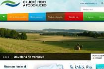 Web Destinační společnosti Orlické hory a Podorlicko.