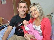 Ellen Smolová se narodila 11. července v 15.09 hodin a v porodnici jí navážily 3,510 kg. S rodiči Terezou Krásovou a Tomášem Smolou bude doma v Ústí nad Orlicí.