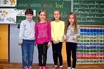 Žáci ze Základní školy Česká Rybná s paní učitelkou Martou Košťálovou.