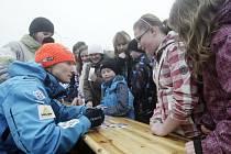Ze setkání s úspěšnými biatlonisty v Letohradu.