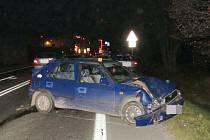 Ve Vysokém Mýtě havarovala dvě vozidla.
