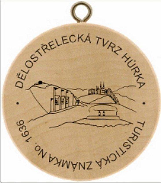 Turistická známka dělostřelecké tvrzi Hůrka.