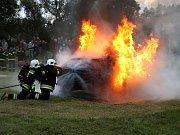 Prověřovací okrskové cvičení hasičů v Nekoři.