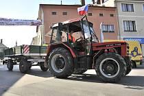 Protestní jízda zemědělců na Orlickoústecku.
