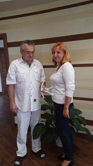 Hana Veselá a dr. Středa.