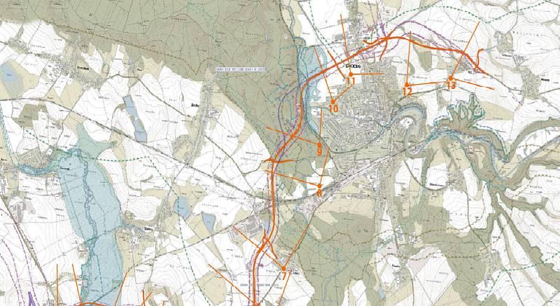 Napojení silnice II/312 na D35 MÚK Vysoké Mýto, Zdroj: Vysoké Mýto