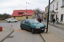Z nehody v Žamberku.