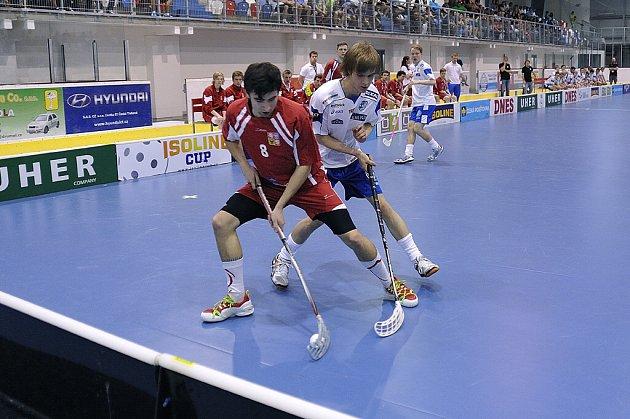 Florbalisté juniorské reprezentace České republiky se utkali s Finskem.