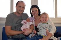 Stela Mikulášová, tak pojmenovali dceru Tereza a Patrik z Letohradu. Holčička se narodila 16. 11. v 13.04 hodin, vážila 3,050 kg a na sestřičku se těší i bráška Samuel.