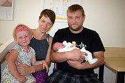 Barbora Havlová těší rodiče Petru a Roberta z Dolní Čermné. Na svět přišla 1. 6. ve 14.12 hodin, kdy vážila 3,030 kg. Sestřička se jmenuje Anežka.
