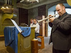 Trumpetista Pavel Herzog.