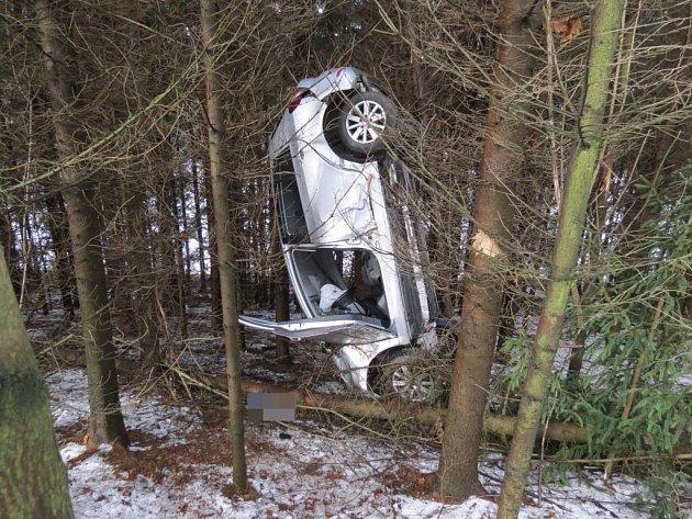 Nehoda v katastru Horních Heřmanic.