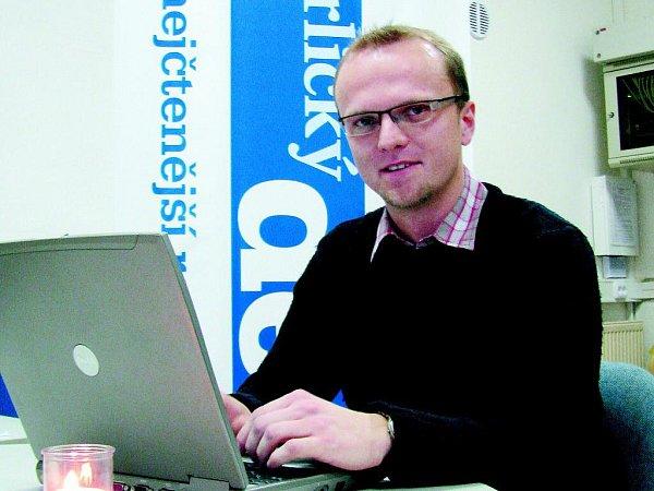 Martin Netolický při on-line rozhovoru vOrlickém deníku.