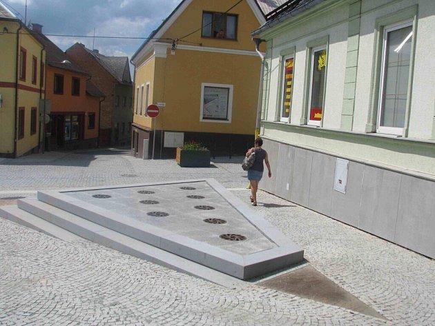 Nová fontána na ulici T. G. Masaryka v Ústí nad Orlicí.